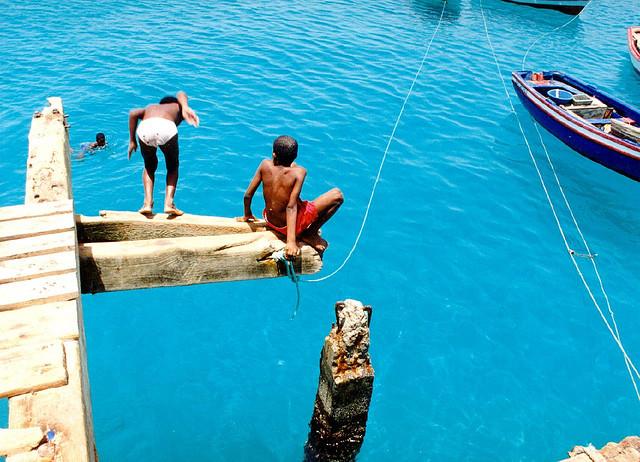 Badespass auf den Kapverden