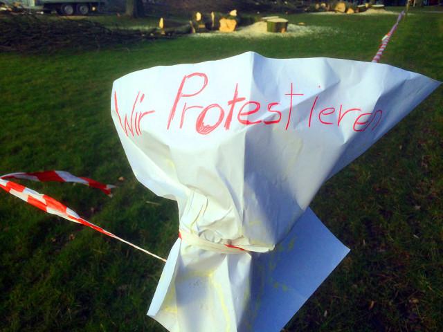 Hilfloser Protest